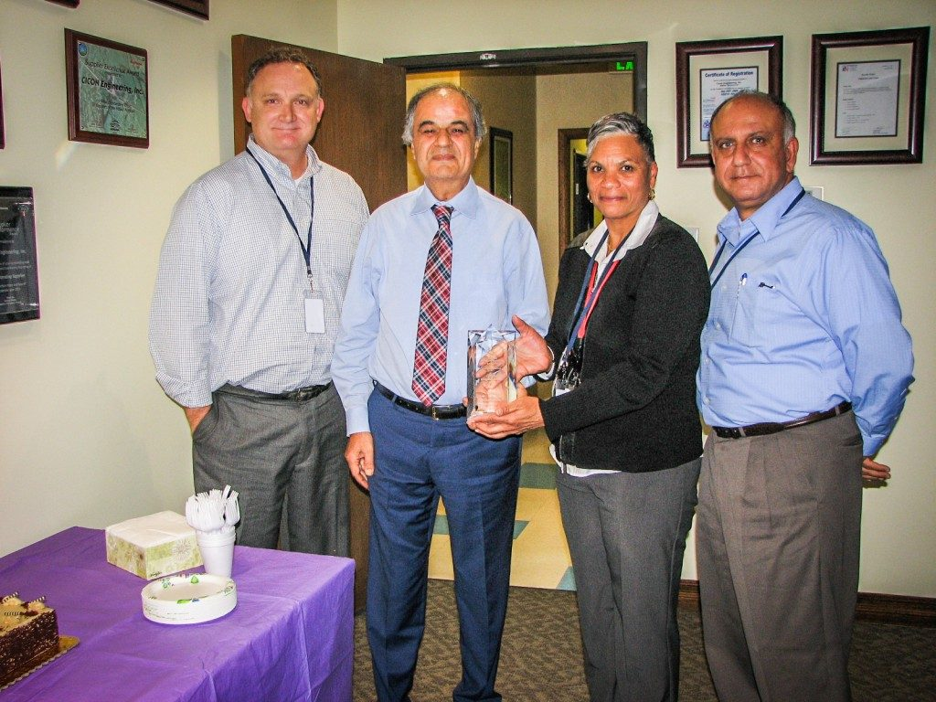 Cicon Engineering Inc Raytheon Wiring Harness 4 Star Supplier Excellence Award